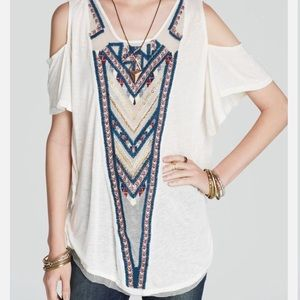 Free People Gypsy Spell Cold Shoulder Tee